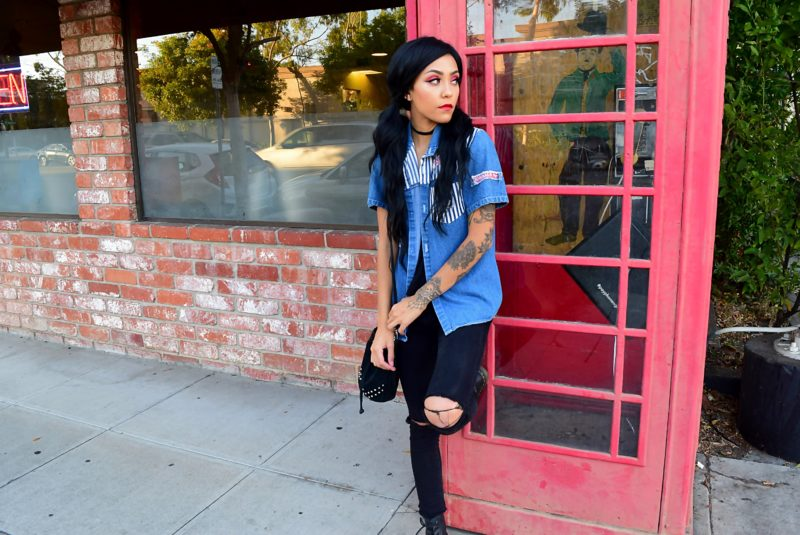 Goth, Black, Alternative, Nu Goth, Grunge, Tattoos, Style, Outfit Of the Day, Ootd, Makeup, Cosmetics, English, Lipstick, DayDream